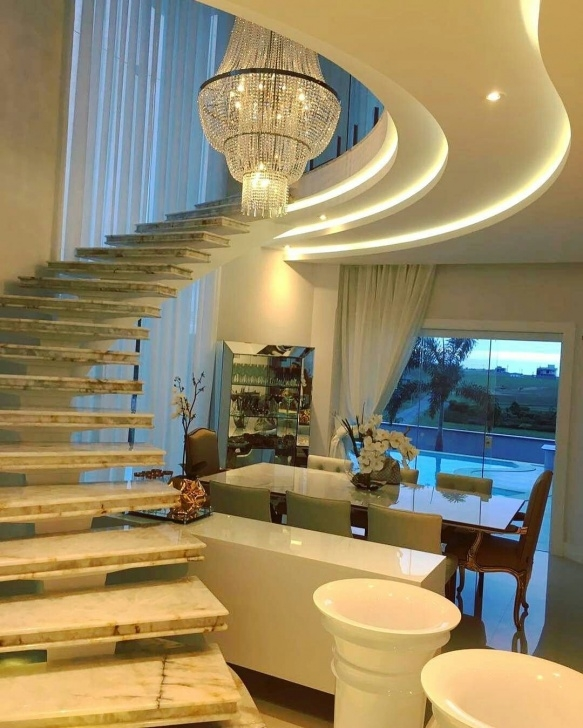 Innovative False Ceiling Over Stairs Photo 996