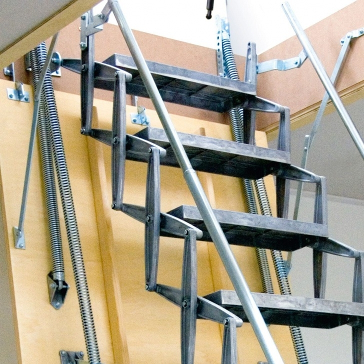 Innovative Folding Stairs With Handrails Picture 175