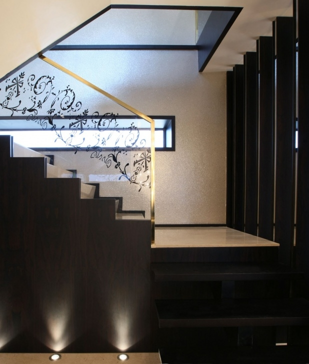 Innovative Glass Etching Designs For Staircase Photo 409