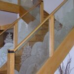 Innovative Glass Etching Designs For Staircase Picture 570