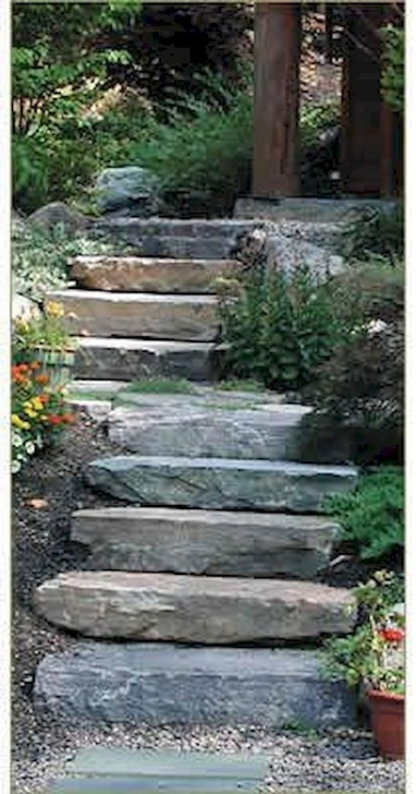 Innovative Outdoor Stone Stairs Photo 918