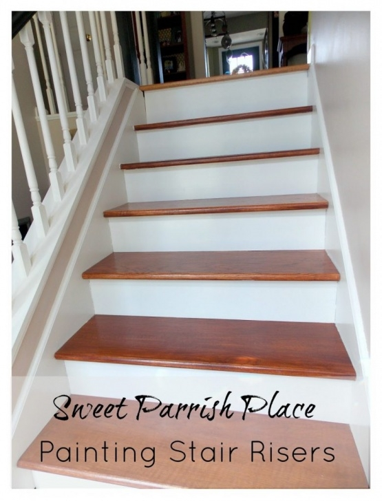 Innovative Painted Risers On Stairs Photo 021