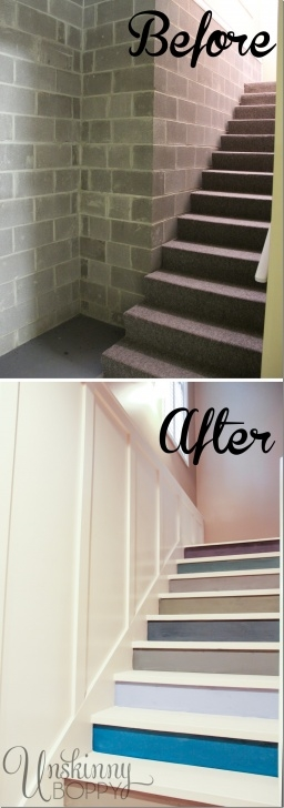 Innovative Painting Basement Stairs Photo 217