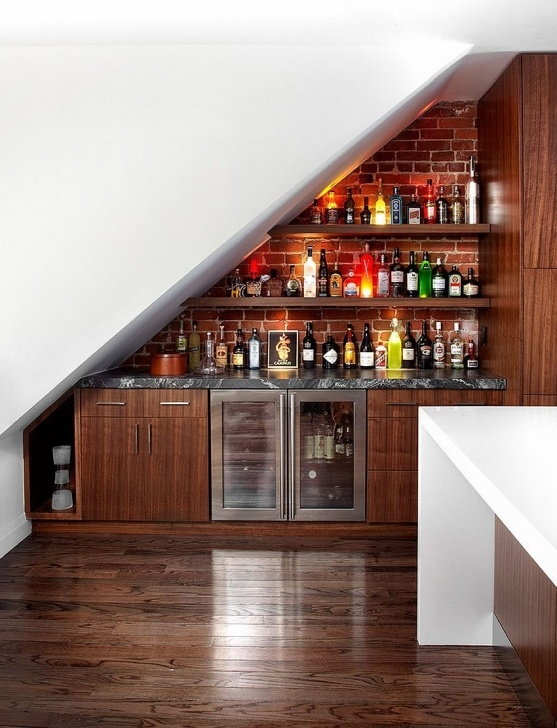 Innovative Wine Bar Design Under Stairs Picture 154
