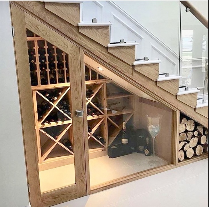 Innovative Wine Bar Design Under Stairs Picture 444