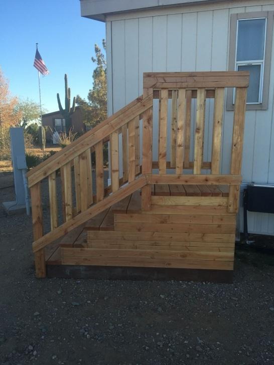 Innovative Wood Mobile Home Steps Image 524