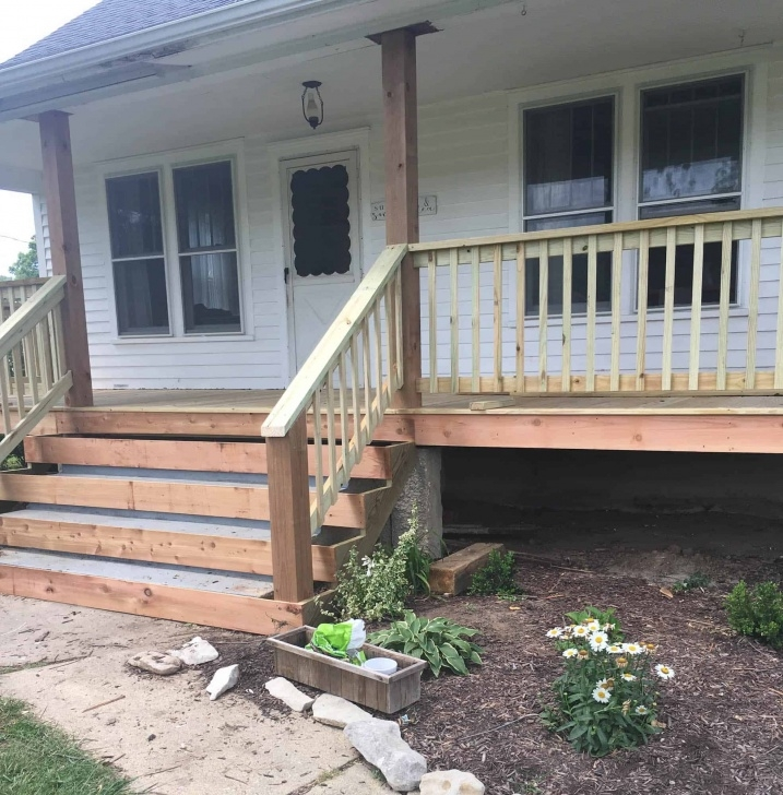 Innovative Wooden Porch Steps Photo 074