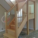 Innovative Wooden Staircase With Glass Panels Image 615