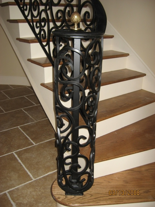 Innovative Wrought Iron Newel Post Picture 821