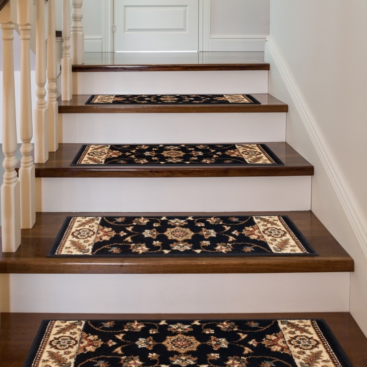 Insanely Black Carpet Stair Treads Photo 356