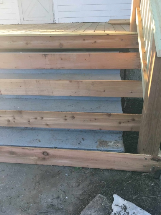 Insanely Building Wooden Steps Over Existing Concrete Steps Photo 834