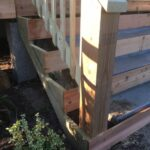 Insanely Concrete Stairs With Wood Image 094