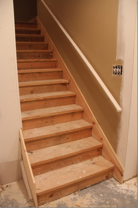 Insanely Finishing Basement Stairs Image 013