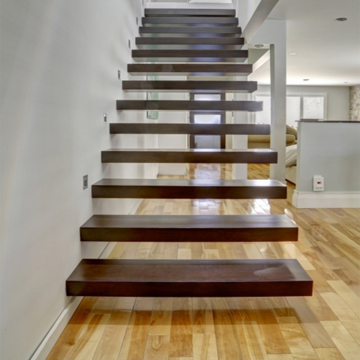Insanely Floating Wood Stairs Picture 265