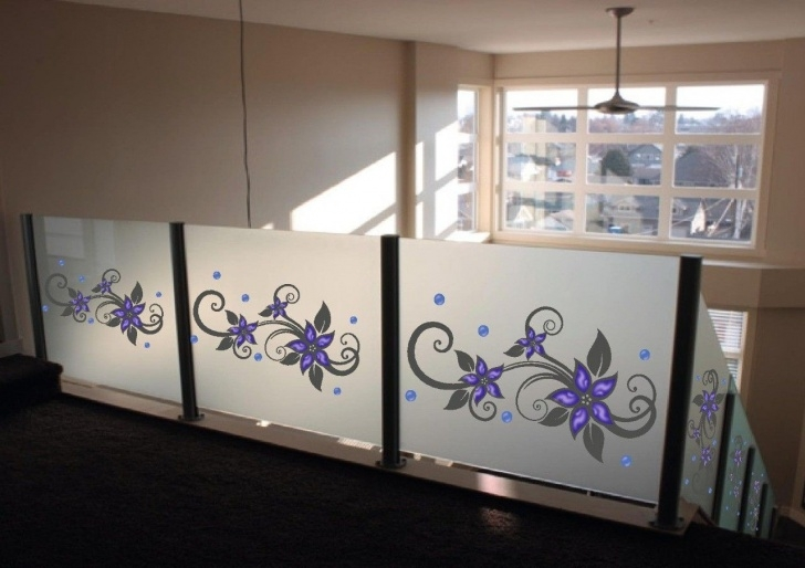 Insanely Glass Etching Designs For Staircase Picture 979