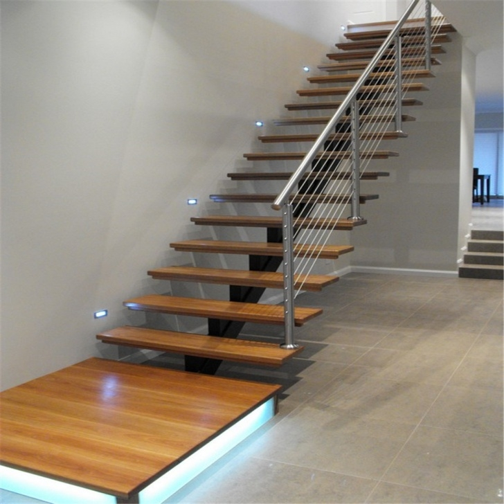 Insanely Metal And Wood Stairs Photo 526