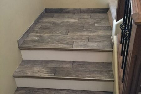 Wood Look Tile On Stairs