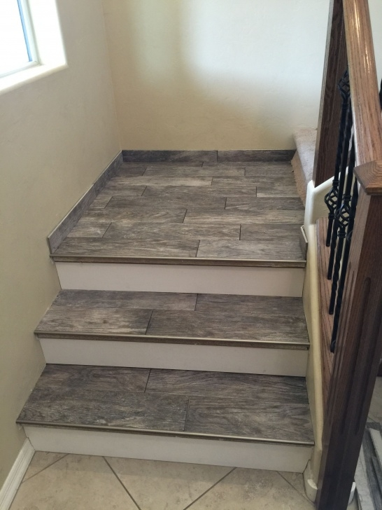 Insanely Wood Look Tile On Stairs Photo 215