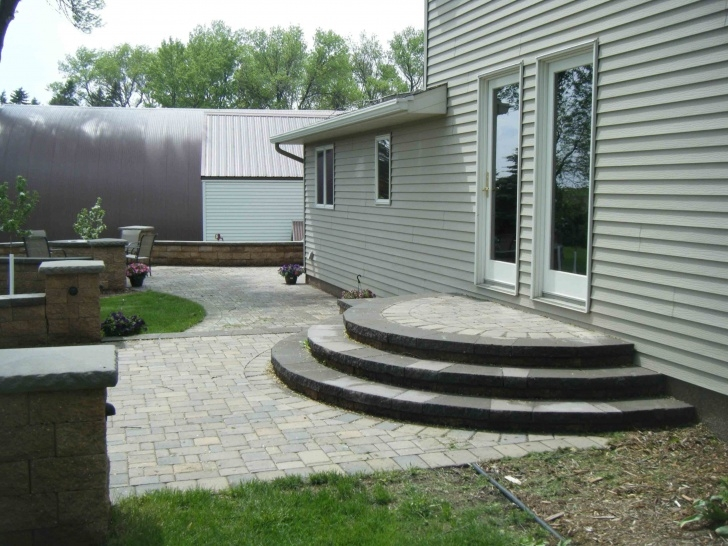 Inspiration Patio With Stairs From House Photo 800