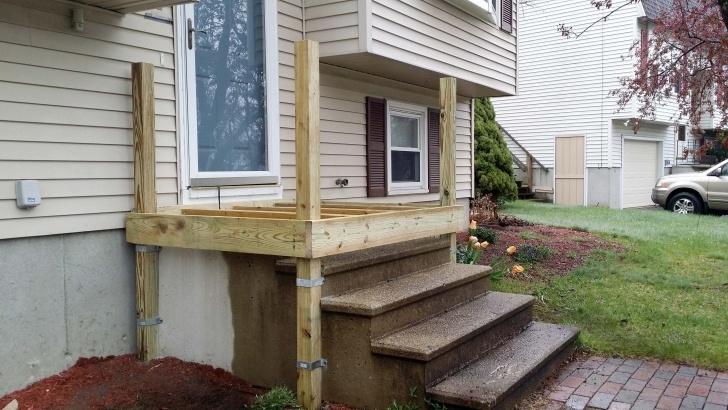 Inspiration Wood Porch Over Concrete Steps Photo 765