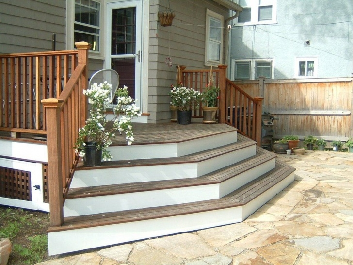 Inspirational Deck Step Designs Image 515