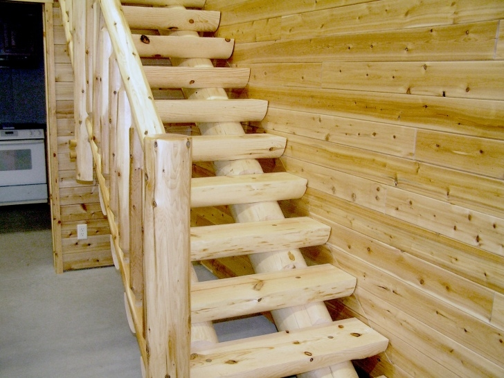 Inspirational Log Stair Railing Image 585