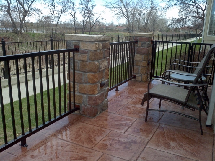 Inspirational Railing For Concrete Patio Picture 230