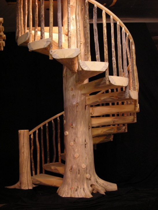 Inspirational Rustic Spiral Staircase Image 922