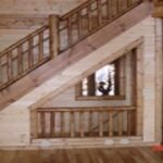 Inspiring Basement With Stairs In Middle Picture 232