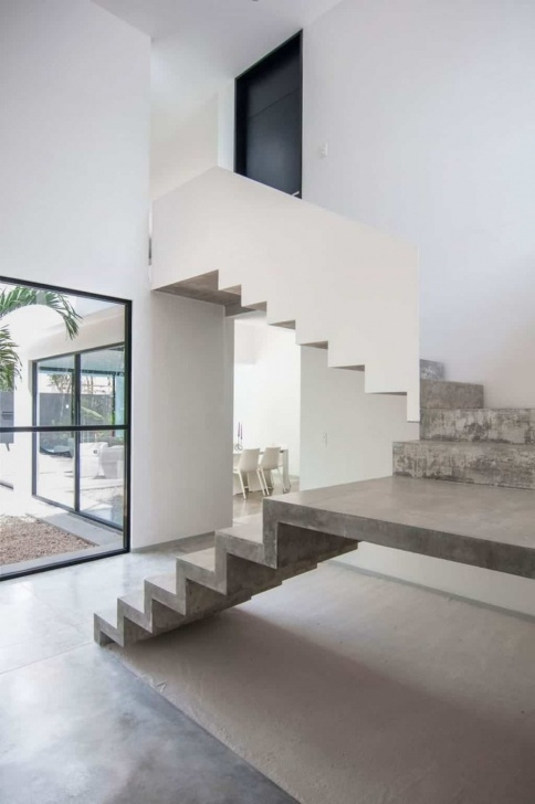 Inspiring Concrete Stairs Design Image 130
