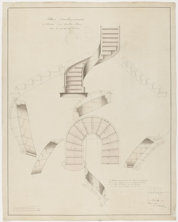 Inspiring Curved Staircase Design Plans Picture 976