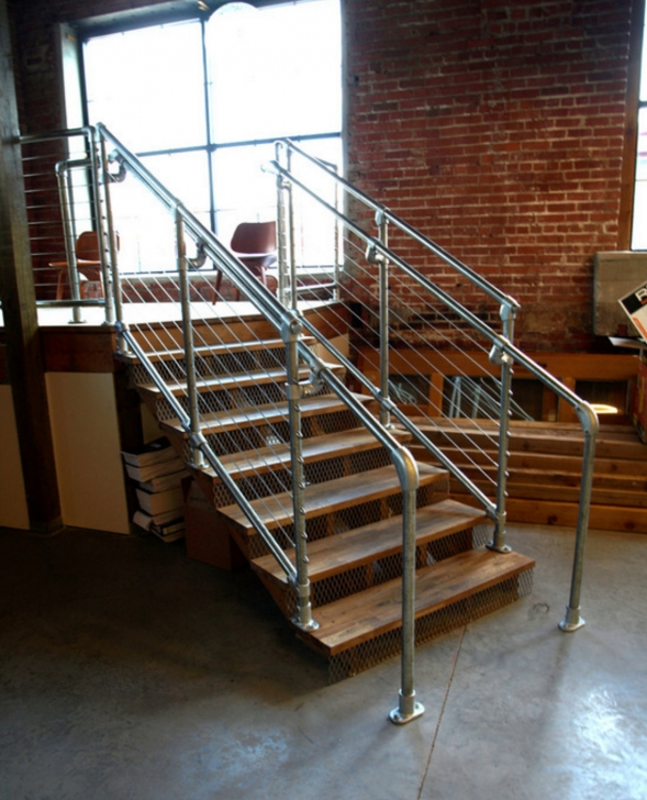 Inspiring Industrial Stair Railing Picture 427