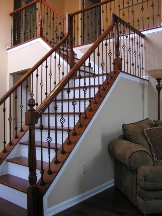Inspiring Interior Iron Stair Railing Photo 432