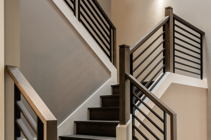 Inspiring Interior Metal Stair Railing Image 696