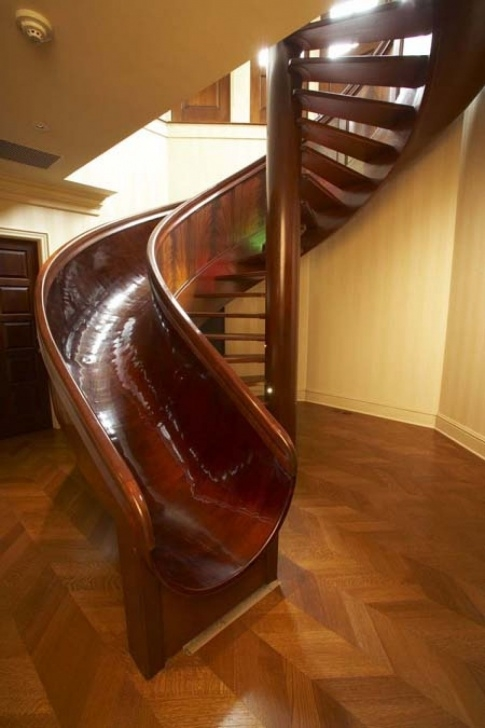 Inspiring Spiral Staircase With Slide Image 564