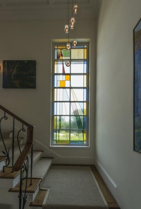 Inspiring Staircase Glass Window Design Image 582