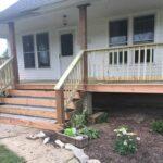 Inspiring Wood Front Steps Over Concrete Image 427