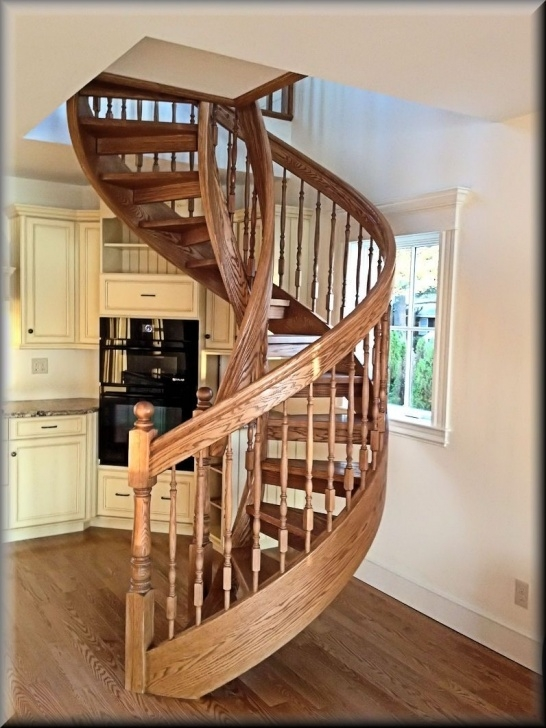 Inspiring Wooden Spiral Staircase Image 527