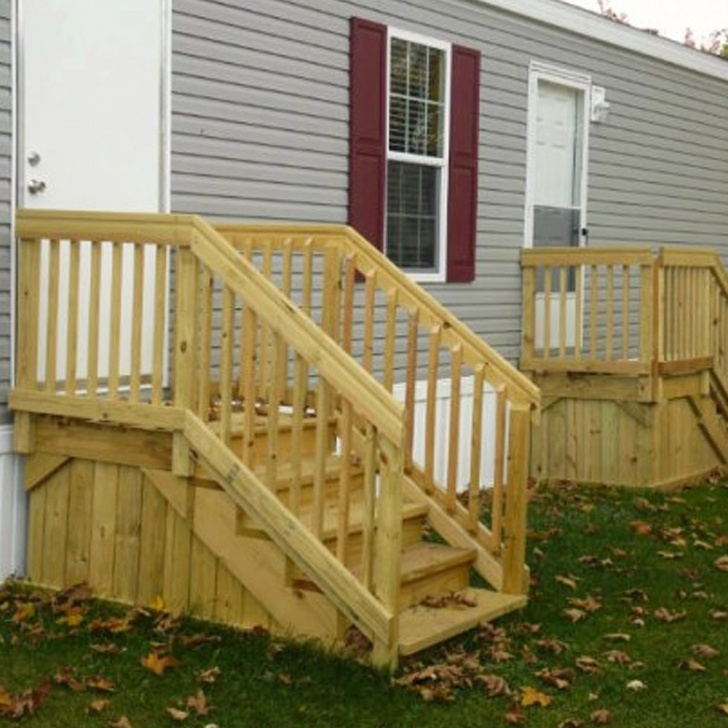 Inspiring Wooden Stairs For Mobile Home Photo 946