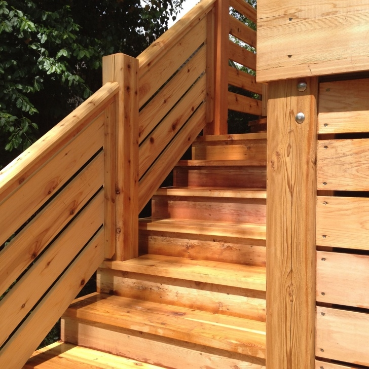 Interesting Cedar Hand Railing Photo 860