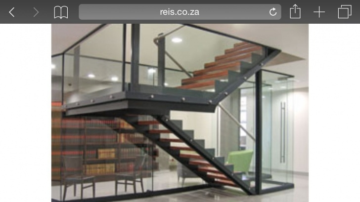 Interesting Glass Enclosed Staircase Photo 696