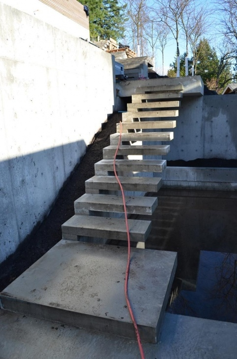 Interesting Outdoor Concrete Stairs Photo 815