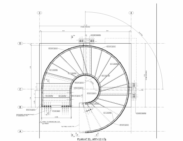 Interesting Round Staircase House Plans Photo 837