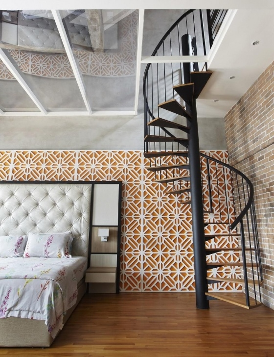 Interesting Spiral Staircase To Attic Bedroom Photo 690