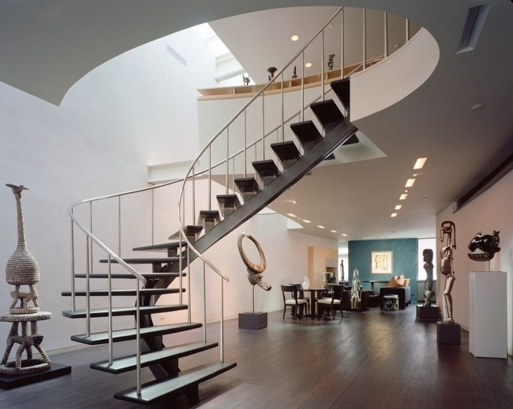 Interesting Wide Spiral Staircase Photo 435