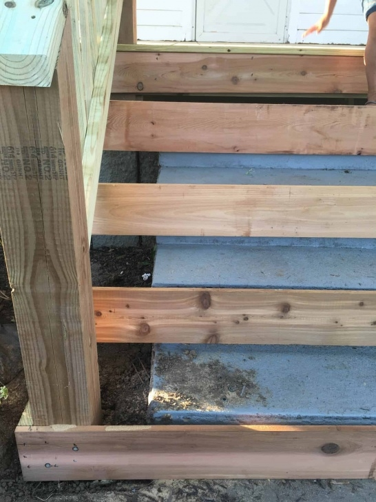 Interesting Wood Porch Over Concrete Steps Picture 871