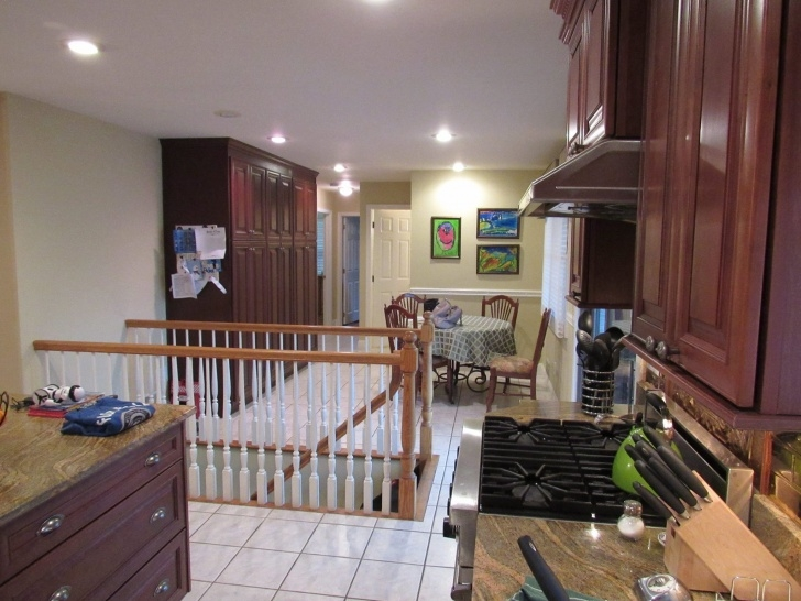 Marvelous Basement Stairs In Middle Of Kitchen Photo 308