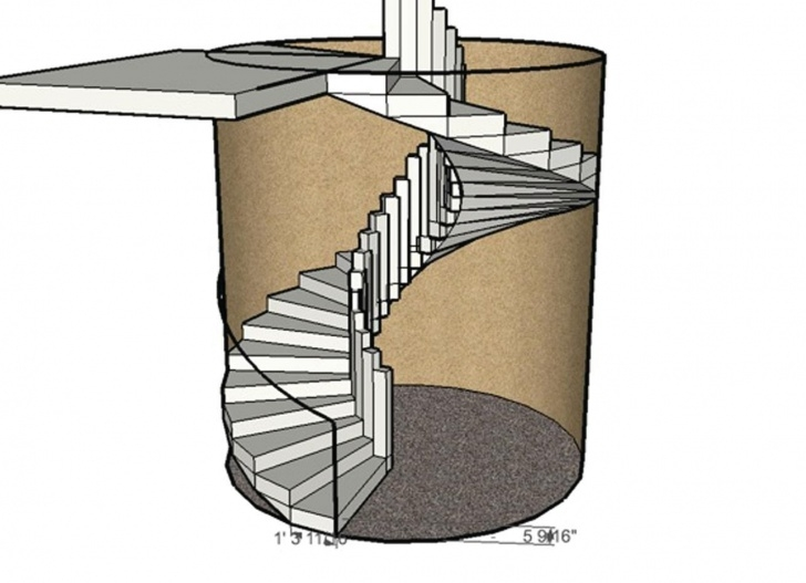 Marvelous Concrete Circular Staircase Picture 087