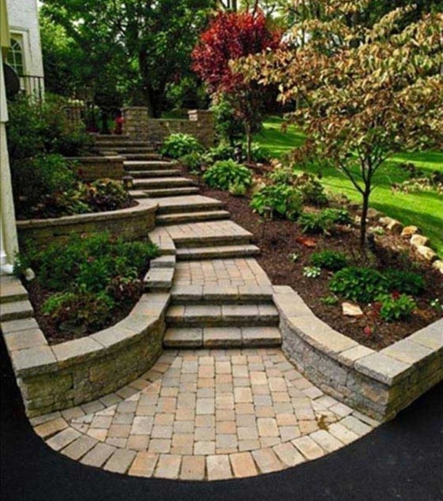 Marvelous Front Yard Stairs Design Image 014