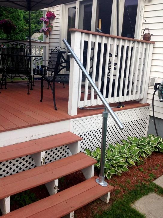 Marvelous Metal Handrails For Outside Steps Photo 350
